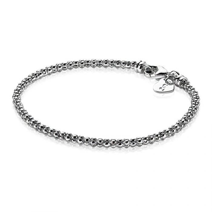 Zinzi zilveren schakelarmband roségoud verguld 18,5cm ZIA1288R