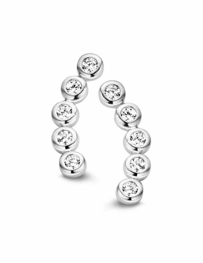 ROSA DI LUCA Zilveren creolen met zirkonia 625.270