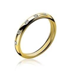 Zinzi gouden ring diamant ZGR84