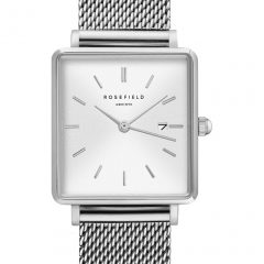Rosefield The Boxy zilver-milanaise