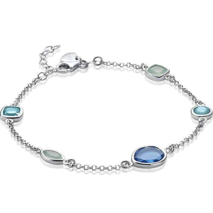 ZINZI zilveren armband blauw