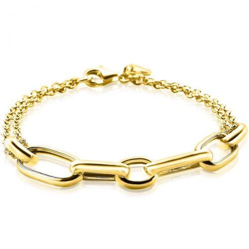 ZINZI zilveren armband geel verguld ovaal