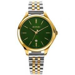 ZINZI Classy horloge groen-goud ZIW1035