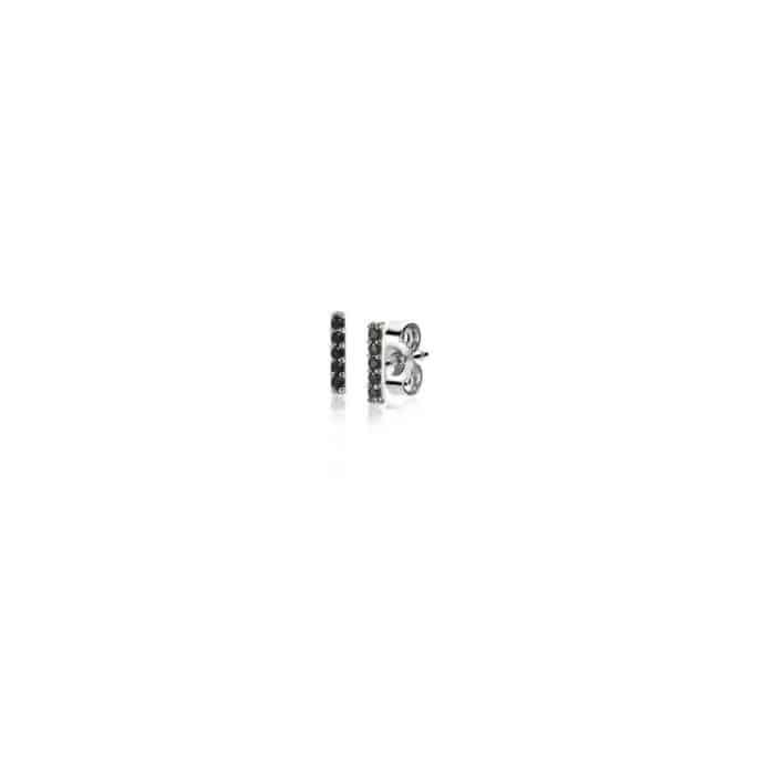 Zinzi oorknoppen zwart ZIO1689BL