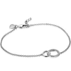 ZINZI zilveren armband 2 open rondjes ZIA1782