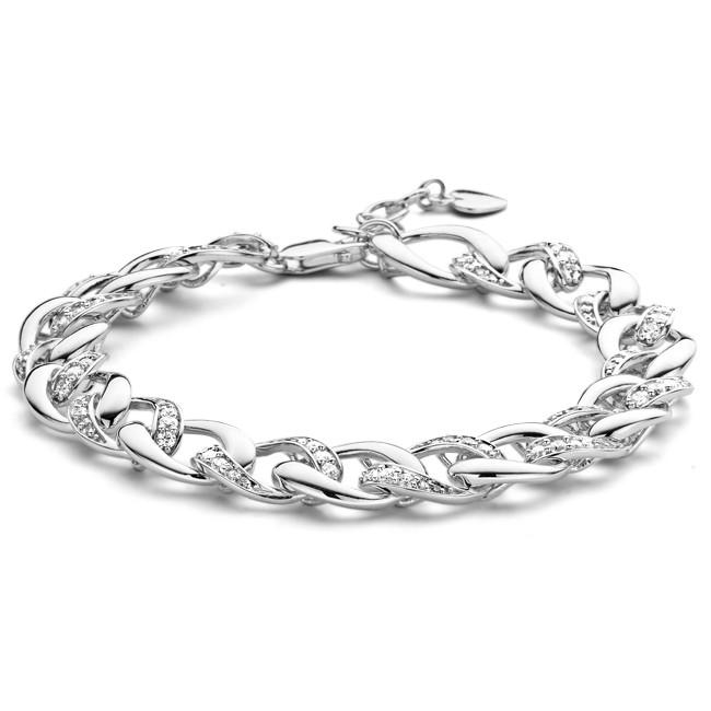 Rosa di Luca Zilveren armband met zirkonia