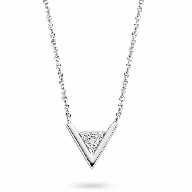 Rosa di Luca zilveren hanger driehoek