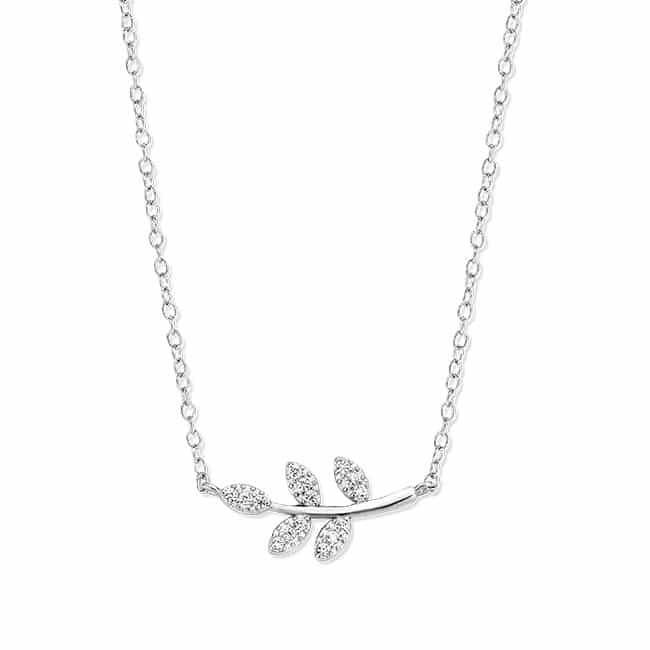 Rosa di Luca zilveren hanger bladeren