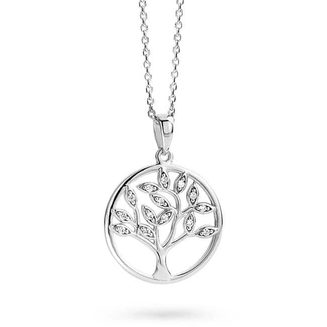 Rosa di Luca zilveren hanger boom